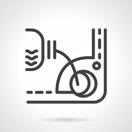 Motoröl Und Andere Mechanismen Flüssigkeitswechsel. Wohnung Farbe ...