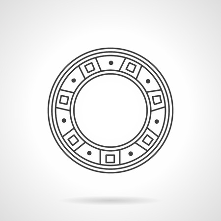 Component of mechanisms. Flat line vector cion. Roller bearing. Elements of web design for business.