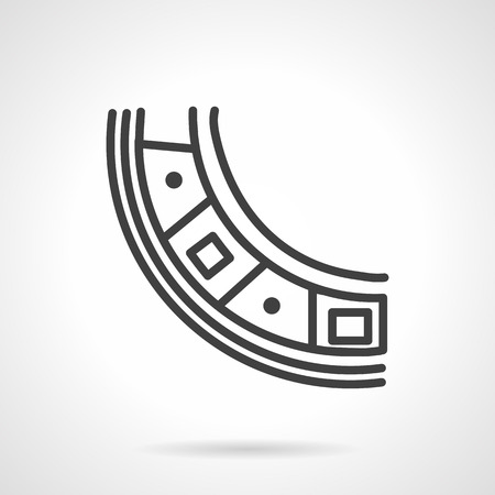 spare part: Roller bearing part. Simple line vector icon. Spare parts, details and components of different mechanisms. Design symbols for business and website.