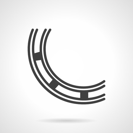 bearing: Element of ball bearing. Black simple line vector icon. Spare parts and mechanism components. Design symbols for business and website.