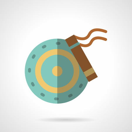 spare: Wheel disk with brakes block. Flat color style vector icon. Automobile repair service or shop, spare parts, car components. Design symbols for business and website.
