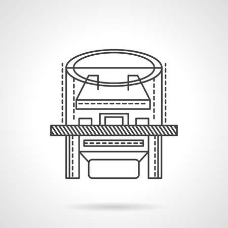 xray machine: Medical diagnosis equipment. Flat line style vector icon. X-ray machine. Web design elements. Illustration