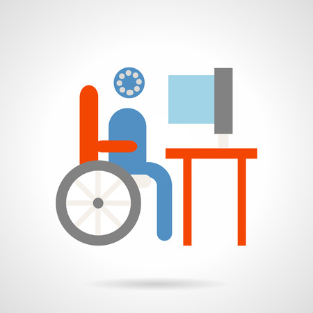 Education for people with disabilities. Distance education, e-learning. Elements of web design for business. Ilustração