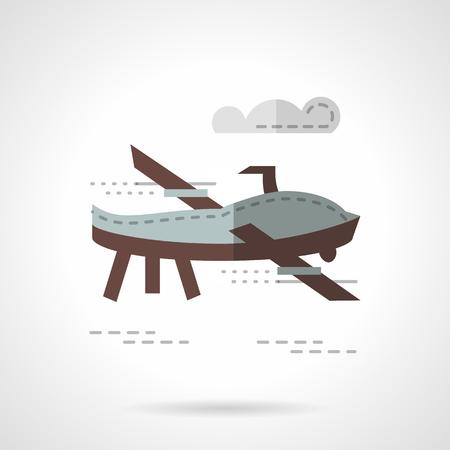 planos electricos: Plano radio controlado volando en un cielo. juguetes rob�ticos y veh�culos militares. estilo de color del icono del vector plana. Los elementos de dise�o para el sitio, negocio o m�vil.