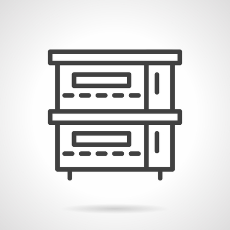 commercial kitchen: Professional equipment for commercial kitchen. Stoves and ovens. Black simple line style vector icon. Single element of web design for site or mobile app.