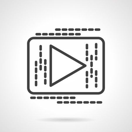 icon buttons: Play button. Media player interface black line style vector icon. Buttons and design elements for website, mobile app, business.