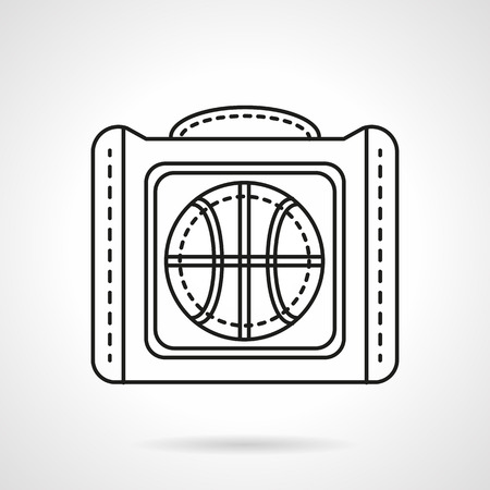 mobile accessories: Sport bag for basketball ball. Sports items and accessories. Flat line style vector icon. Single web design element for mobile app or website. Illustration