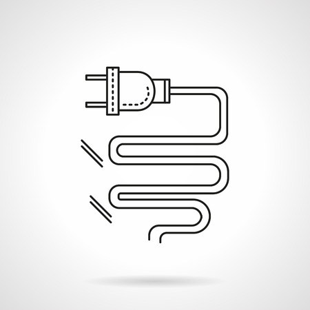 plug in: Electric element, plug in. Power symbol. Flat line style vector icon. Elements of web design for business, website and mobile
