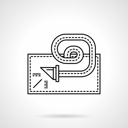party design: Party horn blower with whistle and ribbon. Objects for fun party and celebrations. Flat line style vector icon. Element of web design for business, website and mobile