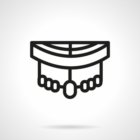 trucker: A front view of longboard. Suspension with wheels. Black simple line style vector icon. Single web design element for mobile app or website.