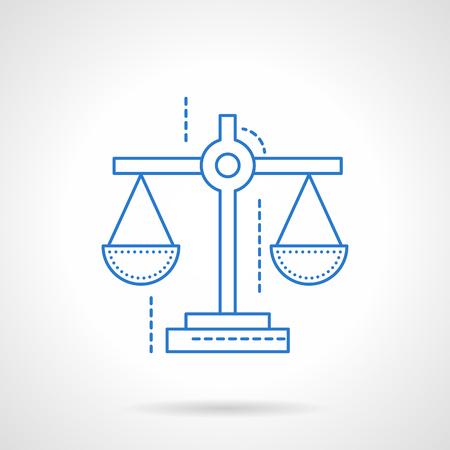 value system: Scales symbol for justice, business.  Illustration