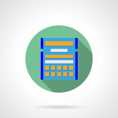 time account: Abstract calendar plan, schedule.