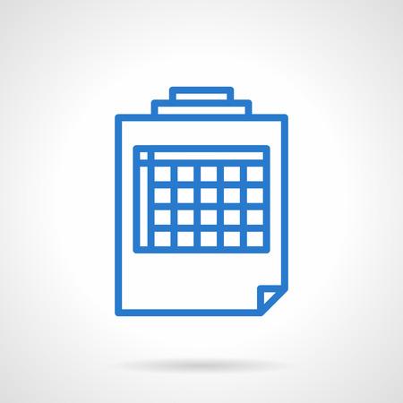spreadsheet: Spreadsheet sample.  Illustration