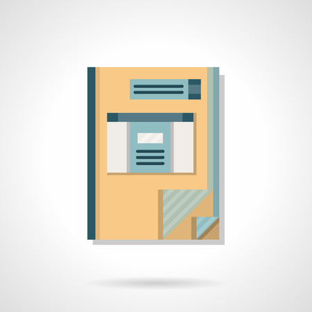 ledger: Accounting ledger notebook. Business concept. E-commerce, analysis workflow. Flat color style vector icon. Element for web design, business, mobile app. Illustration