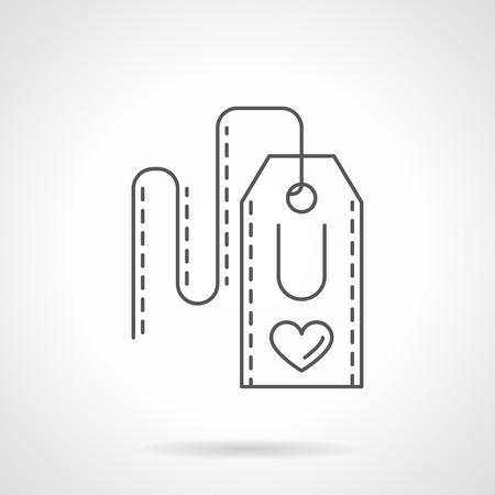 i love you heart: Label with abstract imaging I Love You, heart sign and U. Valentines Day event. Creative declaration of love. Vector icon flat thin line style. Element for web design, business, mobile app.