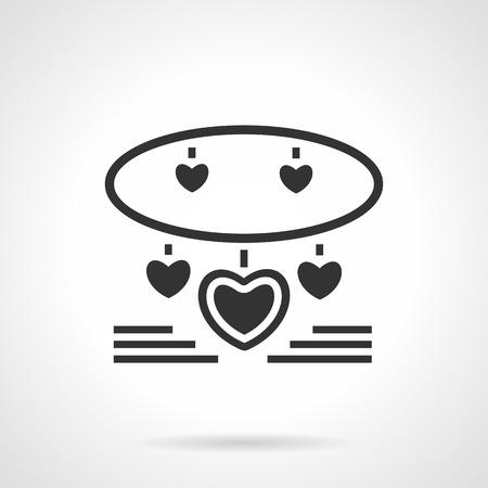romantic: Romantic present for Valentines Day or birthday. Illustration