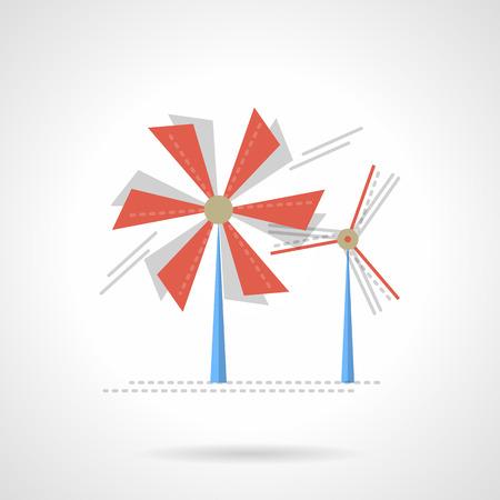 wind mill: Wind turbines, wind mill. Illustration