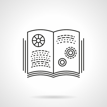 astronomy: Abstract open book on physics or astronomy.