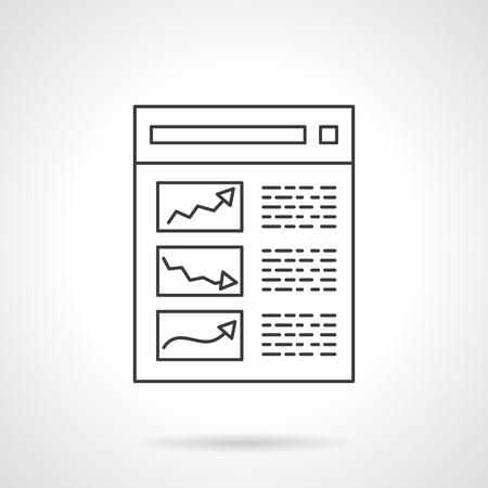 e19f7820fb431 Informe y estadística Concepto de marketing digital y e-business. Icono de  vector único de estilo de línea plana. Elemento para el diseño web