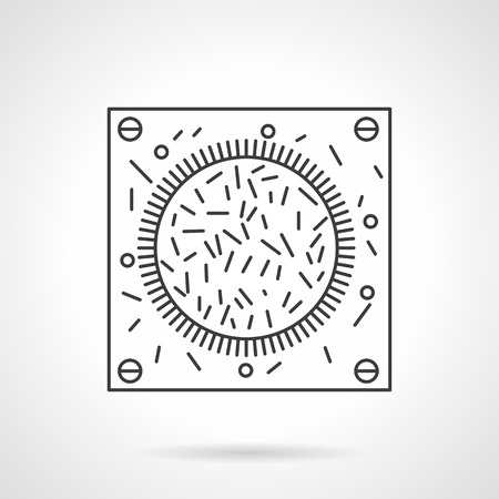 microorganisms: Bacteria pathogen microorganisms. Science and medicine. Laboratory research. Flat line style single vector icon. Element for web design, business, mobile app.