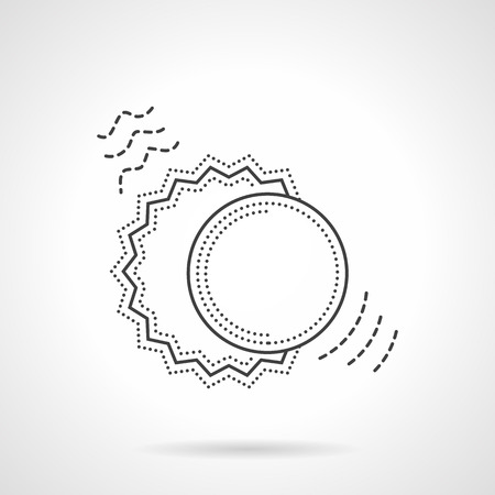 solar eclipse: Symbol of sun and moon couple. Astronomy and astrology sign. Solar eclipse. Vector icon flat thin line style. Element for web design, business, mobile app.