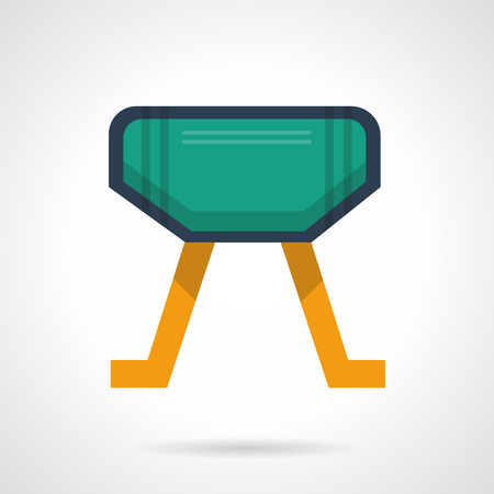 gymnastics equipment: Gymnastics equipment. Vaulting horse  Pommel Horse. Sport and workout. icon flat color style. Web design element for site, mobile and business.