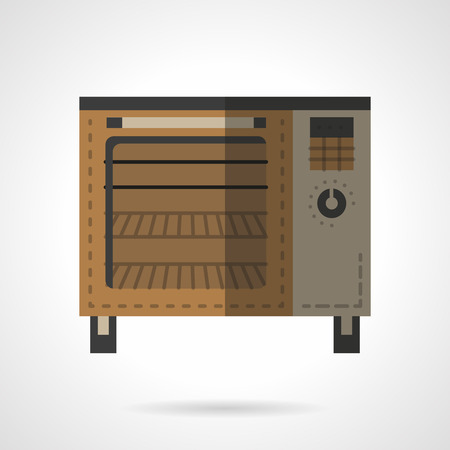 Kitchen Appliances. Ovens And Stoves. Vector Icon Flat Color Style