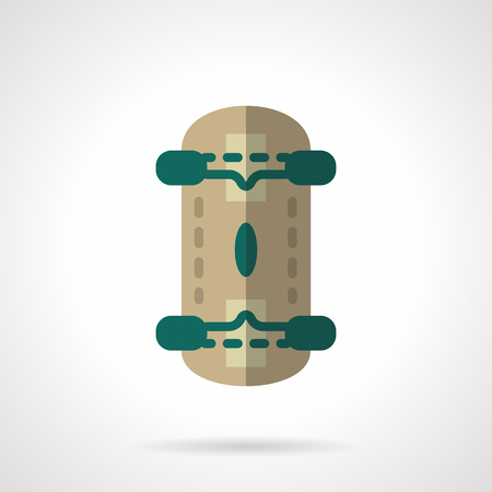 mobile accessories: Active urban lifestyle. Skateboard. Longboarding and skateboarding accessories. Sports shop. Vector icon flat color style. Web design element for site, mobile and business. Illustration