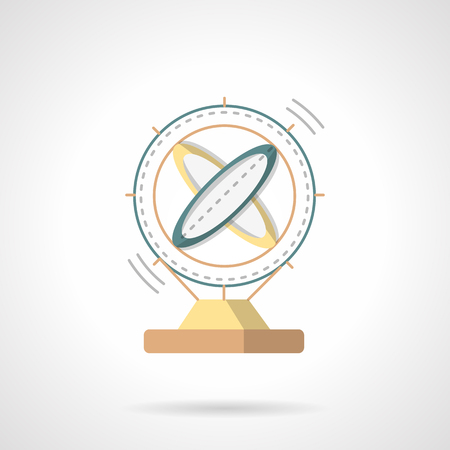 orbiting: Magnetic pendulum. Model of orbiting system. Science model. Flat color style vector icon. Web design element for site, mobile and business. Illustration