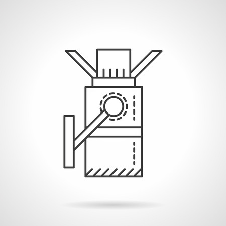 wicket door: Metro turnstile. Pass equipment. Transportation services. Flat line style single vector icon. Element for web design, business, mobile app. Illustration