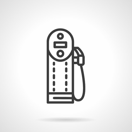 refueling: Modern digital refueling station. Gas station. Oil and gasoline industry. Black line style single vector icon. Element for web design, business, mobile app.