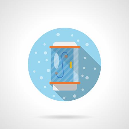 cabine de douche: équipement de salle de bain pour la maison, hôtel. Moderne cabine de douche. le style Bubbles. couleur plat rond icône vecteur. Element for design web, les entreprises, l'application mobile.