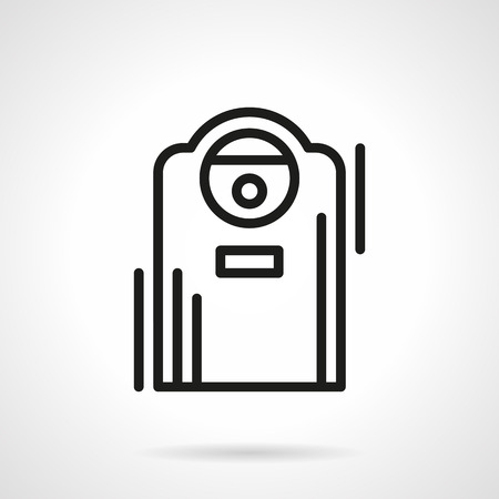 acclimatization: Appliances and devices for home climate. Air purification. Ionizer. Single black line design vector icon. Element for web design, mobile and business. Illustration