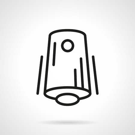 freshener: Modern air freshener device. Home and office comfort. Climate appliances. Single black line design vector icon. Element for web design, mobile and business.