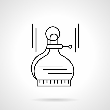 metrology: Tools and devices for measurement. Outside calipers. Distance measurement, drawing circles. Metrology. Single flat thin line style vector icon. Element for web design, business, mobile app. Illustration
