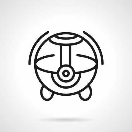 black appliances: Ball-shaped modern style home humidifier. Climate appliances. Single black line design vector icon. Element for web design, mobile and business. Illustration