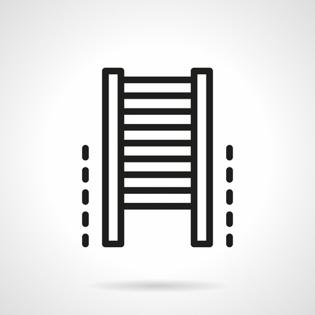 stamina: Gym equipment. Climb wall bars. Sport lifestyle and fitness. Vector icon simple black line style. Single design element for website, business. Illustration