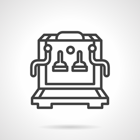 black appliances: Coffee making equipment. Coffee machine. Restaurant and cafe appliances. Simple black line vector icon. Single element for web design, mobile app.
