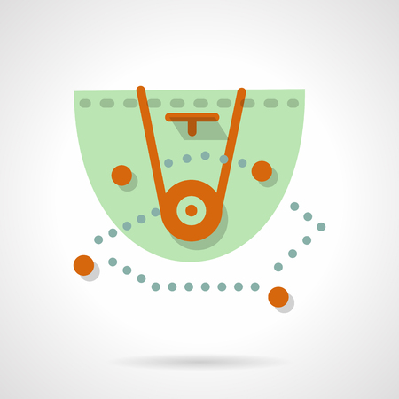 tactic: Abstract scheme of basketball defense tactic. Trainers board. Sport competition. Flat color style vector icon. Web design element for site, mobile and business.