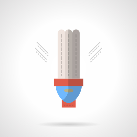 matted: Lightning equipment and components. Saving energy lamp. LED. Eco-friendly technology. Flat color style vector icon. Web design element for site, mobile and business.