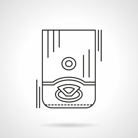 boiling water: Water boiling and heating equipment. Household appliances. Flat line style vector icon. Single design element for website, business. Illustration