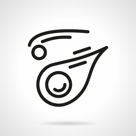 other space: Space bodies. Asteroid, meteorite, comet and other. Space research concept. Astronomy science.  Simple black line vector icon. Single element for web design, mobile app. Illustration