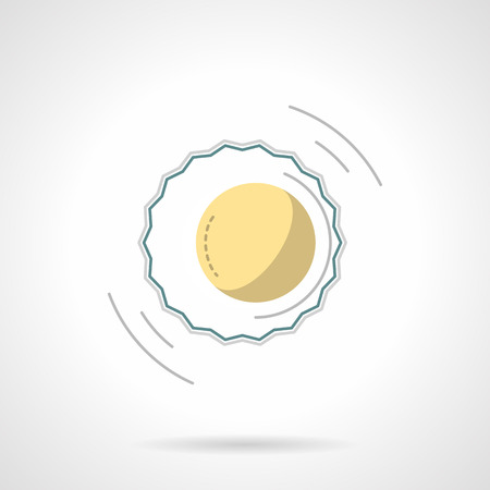 penumbra: Moon and sun, eclipse symbol. Solar corona sign. Astronomy and nature phenomena and events. Flat color style vector icon. Web design element for site, mobile and business.