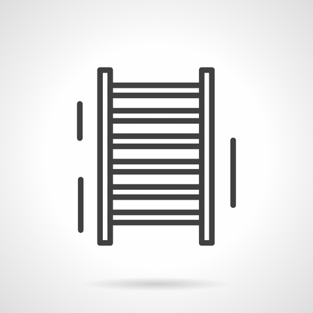 sporting equipment: Gymnastic ladder. Swedish wall. Training at school and home gym. Sale of sporting equipment. Simple black line vector icon. Single element for web design, mobile app.