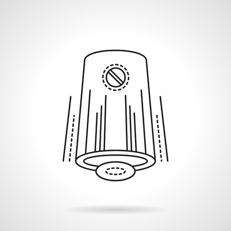 freshener: Devices and accessories for home climate. Modern automatic air freshener. Flat line style vector icon. Single design element for website, business.