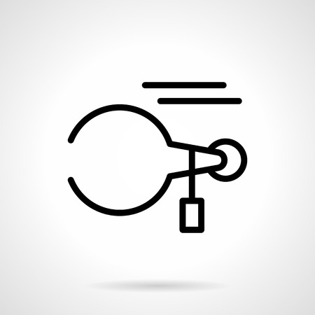 metrology: Device or tool for measurement of round parts. Callipers. Metrology objects for construction, engineering and others. Simple black line icon. Single element for web design, mobile app.