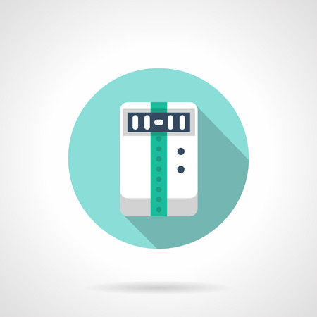 acclimatization: Electrical household appliances, climatic technics. Temperature control, humidity and air purity, ventilation. Round flat color style vector icon.