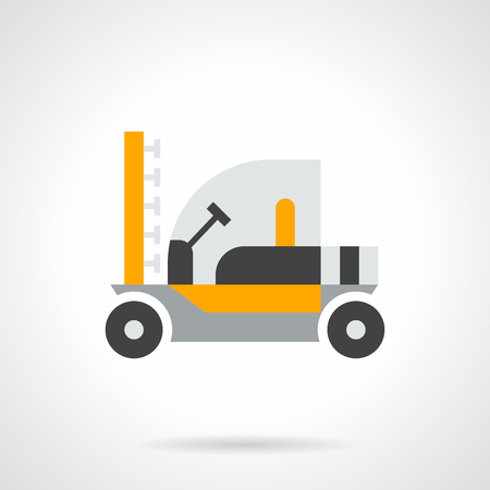 agricultural machinery: Agricultural machinery and equipment. Tractor for spraying fertilizers and pesticides. Farming vehicles, trucks, combines. Single flat color design vector icon.