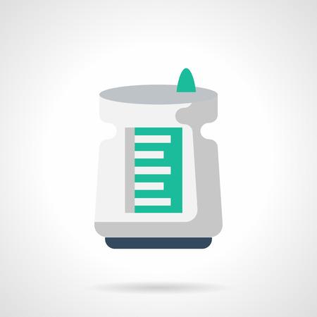 air cleaner: Blanca del filtro de aire eléctrico. Humidificador, purificador de aire y otros dispositivos para el buen clima de la casa. Electrodomésticos. estilo de color del icono del vector plana. Vectores