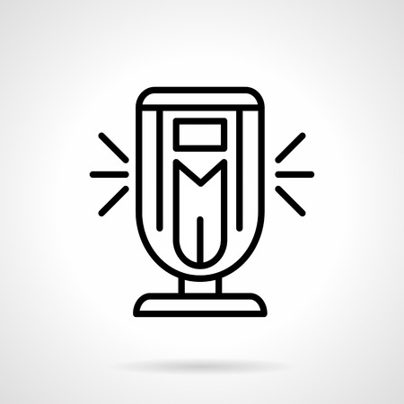 black appliances: Air cleaning devices. Modern ionizer. Appliances and equipment to making comfort climate for health care. Simple black line vector icon. Illustration